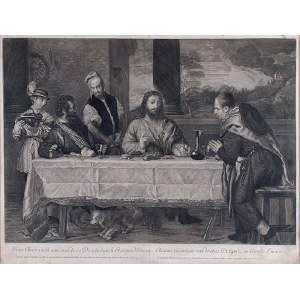 Antonio MASSON (1636-1700) - rytował, Wieczerza w Emaus, XVII w.
