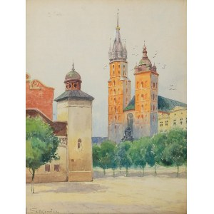 Adam SETKOWICZ (1876-1945), Kraków - Kościół Mariacki