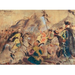 Kazimierz SICHULSKI (1879-1942), Jan III Sobieski na przeglądzie pułków kozackich, 1924