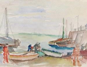 Henryk EPSTEIN (1892-1944), W porcie, lata 30-te XX w.