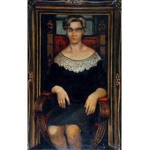 Jerzy KRAWCZYK (1921-1969), Portret Kingi, 1959