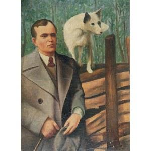 Jerzy KRAWCZYK (1921-1969), Pan i pies - Pies i pan, 1942