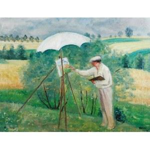 Irena WEISS - ANERI (1888-1981), Pejzażysta - Wojciech Weiss malujący, 1935