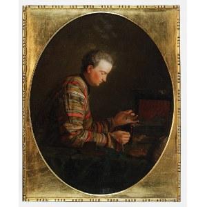Malarz nieokreślony, francuski, XVIII w., Młodzieniec z szalkami