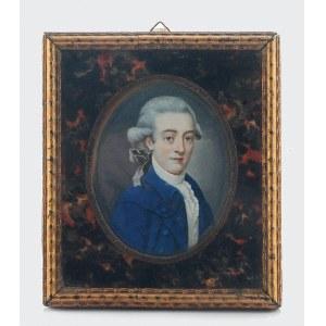 Autor nieokreślony, A. BICKING (?), XIX w., Portret młodego mężczyzny - miniatura
