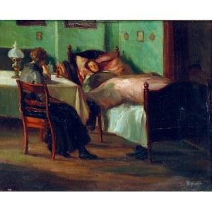 Malarz nieokreślony, XX w., Chora matka