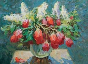 Jerzy POGORZELSKI (1926-2003), Tulipany i bzy