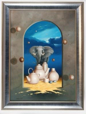 Borys MICHALIK (ur. 1969), Słoń w składzie porcelany