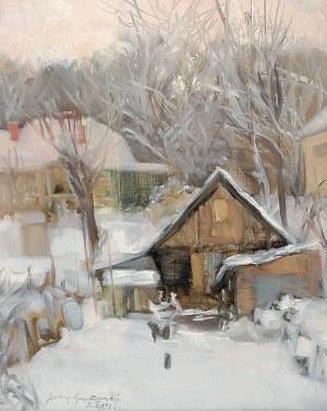 Jerzy GNATOWSKI (1928-2012), Zima w miasteczku, 1999
