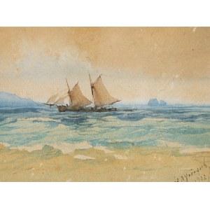 ŁODZIE ŻAGLOWE NA MORZU, 1902