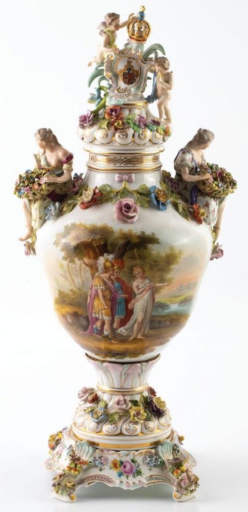 WAZA Z GODŁEM RZECZPOSPOLITEJ OBOJGA NARODÓW, Saksonia, Potschappel, Carl Thieme, 1881- 1901