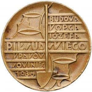 Medal, Budowa Kopca J. Piłsudskiego, Kraków 1936