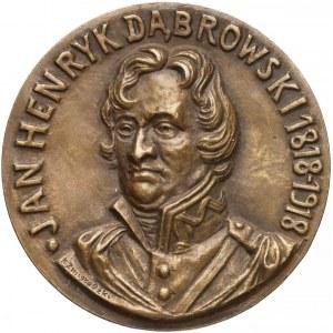 Medal, 100. rocznica śmierci Dąbrowskiego 1918 - rzadki