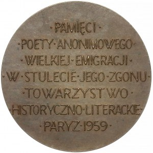 Medal Zygmunt Krasiński 1959 (Norwid) numerowany
