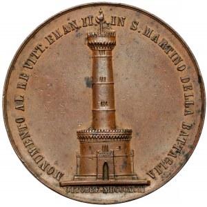 Włochy, Umberto I, Medal Pomnik dla Wiktora Emanuela II 1893