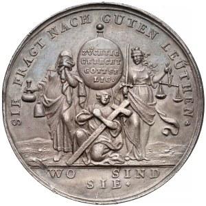 Śląsk, Medal na pokój altranstandzki i przełom w Kościele 1707