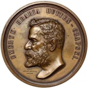 Medal, Emeryk Hrabia Hutten-Czapski 1896 - rzadki