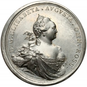 Rosja, Elżbieta, Medal zakończenie sporów o granicę 1754
