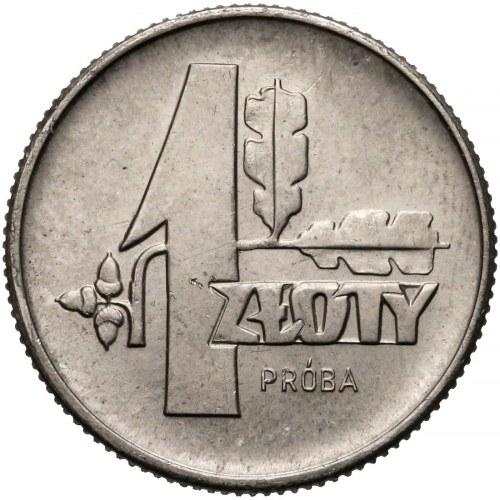 Próba NIKIEL 1 złoty 1958 liście dębu