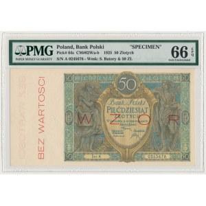 WZÓR 50 złotych 1925 - Ser.A - PMG 66 EPQ