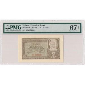 2 złote 1941 - AG - PMG 67 EPQ