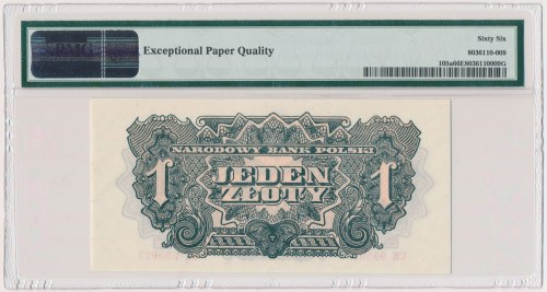 1 złoty 1944 ...owym - CH - PMG 66 EPQ