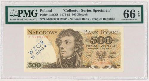 500 złotych 1974 - A 0000000 - WZÓR / SPECIMEN - z numerem wzoru