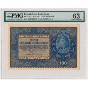 100 mkp 08.1919 - IF SERJA H - PMG 63