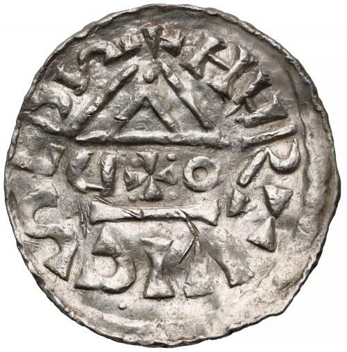 Niemcy, Bawaria, Ratyzbona, ks. Henryk V Mozelski (1004-1026), Denar