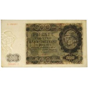 500 złotych 1940 - B - przesunięty znak wodny