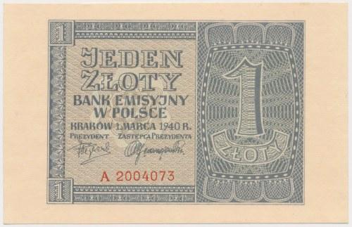 1 złoty 1940 - A