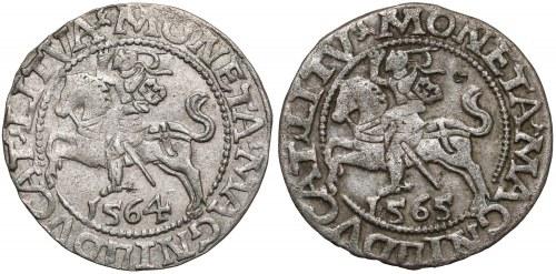 Zygmunt II August, Półgrosze Wilno 1564, 1565 (2szt)
