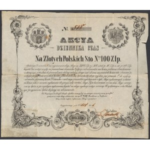 Dziennik Czas, Kraków, 100 złotych 1848