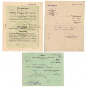 Pierwsze Rosyjskie Tow. Ubezpieczeniowe 1908-1911 (3szt)
