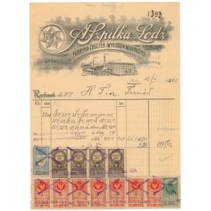 Rachunek firmowy, A. SZPILKA Fabryka Chustek i Wyrobów Włóknistych, Łódź 1924