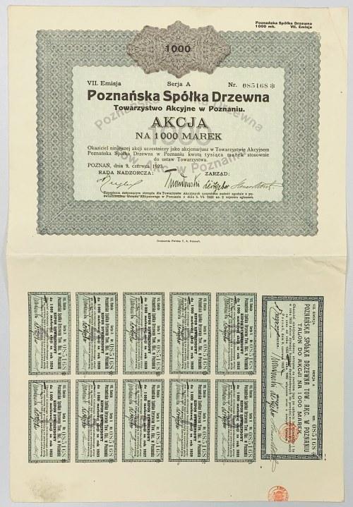 Poznańska Spółka Drzewna, Em.7, 1.000 mkp 1923
