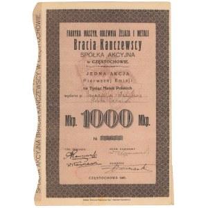 Fabryka Maszyn, Odlewnia Żelaza i Metali Bracia Kanczewscy, Em.1, 1.000 mkp 1921
