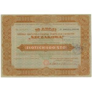 Fabryka Portland-Cement Szczakowa, 10x 100 zł 1932