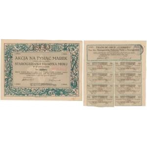 Starogardzka Fabryka Mebli w Starogardzie, Em.1, 1.000 mkp