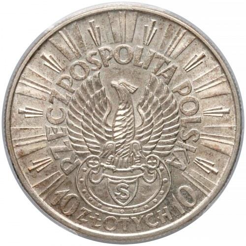 Strzelecki, Piłsudski 10 złotych 1934 - PCGS MS62