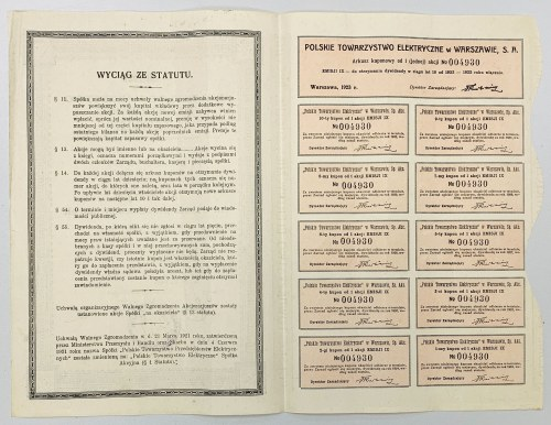 Polskie Towarzystwo Elektryczne, Em.9, 350 mkp 1923
