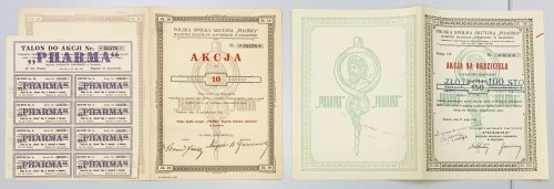 Pharma Magister Bolesław Jawornicki, 10 i 150 zł 1927-1932 (2szt)