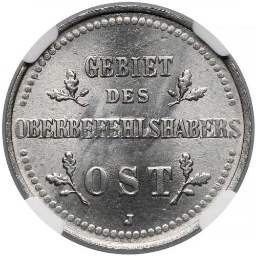 Ober-Ost. 2 kopiejki 1916-J, Hamburg - NGC MS65 (MAX)