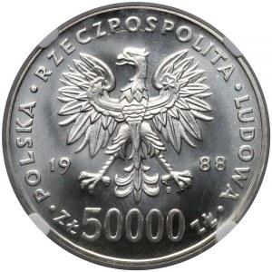50.000 złotych 1988 Piłsudski - NGC MS68