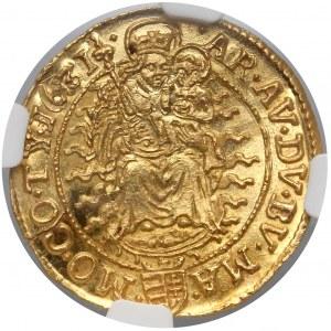 Węgry, Ferdynand II, Dukat 1631 KB - PIĘKNY - NGC MS64⭑