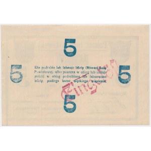 Inowrocław, 5 marek 1919 - stempel EINGELÖST na rewersie