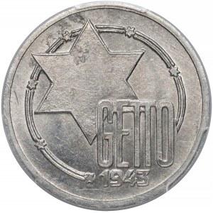 Getto Łódź, 10 marek 1943 Al - odm.10/5 - PCGS MS63