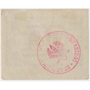 Sępólno, 10 fenigów 1920 z błędem - kreska w drugą stronę