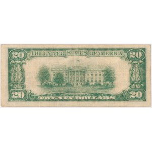 USA, 20 dollars 1928, National Currency, Philadelphia, C