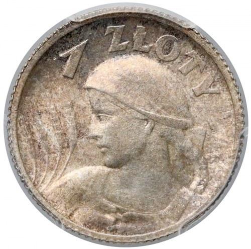 Kobieta i kłosy 1 złoty 1924 - PCGS MS62